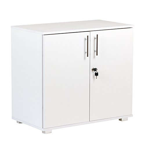 MMT Furniture Designs Ltd MMT-SD-IV07White Armario de Almacenamiento de Oficina, Laminado de Madera, Blanco, 730mm Tall