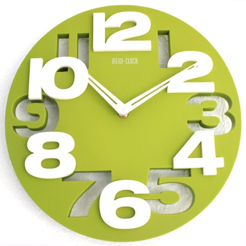 Moderno reloj de pared decoración cocina Baduhr de muñeca Country Club LKU-verde, New